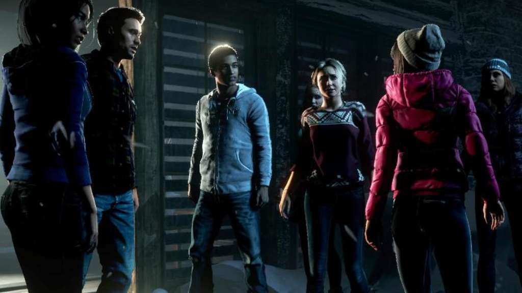 "Acht Freunde, eine einsame Hütte, ein Mörder: Was braucht man mehr für ein gruseliges Abenteuer? ""Until Dawn"" lässt den Spieler in dem interaktiven Film die Kontrolle übernehmen. Screenshot: Sony Computer Entertainment Foto: Sony Computer Entertainment"