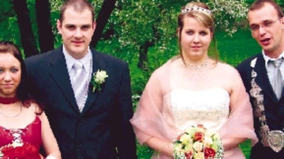 Vizekönigs- und Königspaar in Wormbach sind Christian Hegener und Anja Degelmann sowie Markus Krähling (r.) und Ina Eikelmeier. Fotos: rio