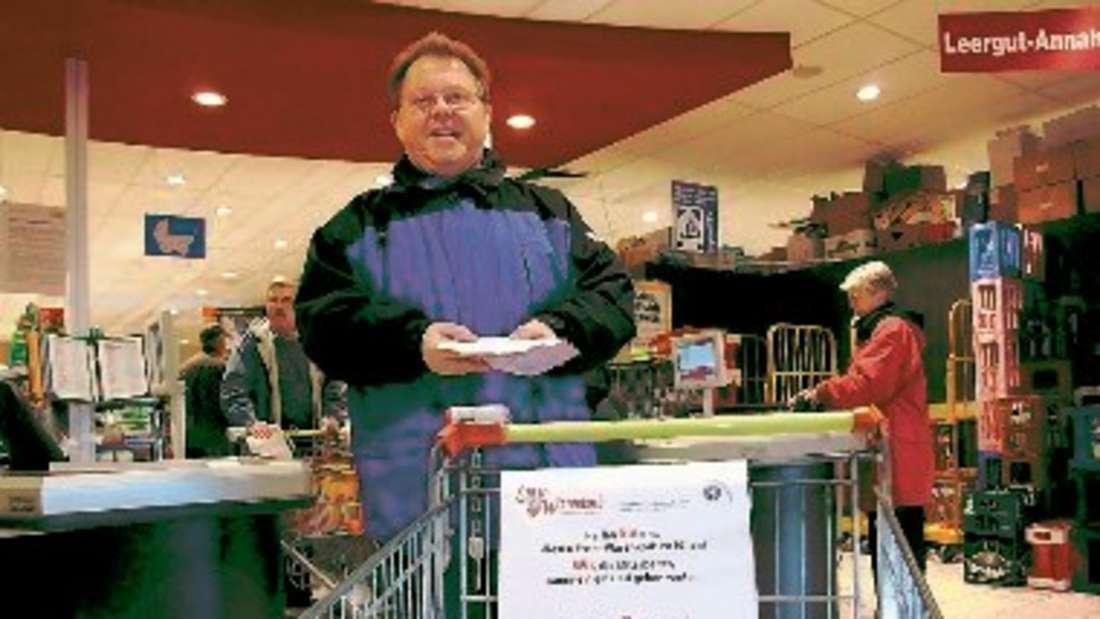 Günter Bachhofen ist einer der engagierten Helfer für den Enser Warenkorb. ▪