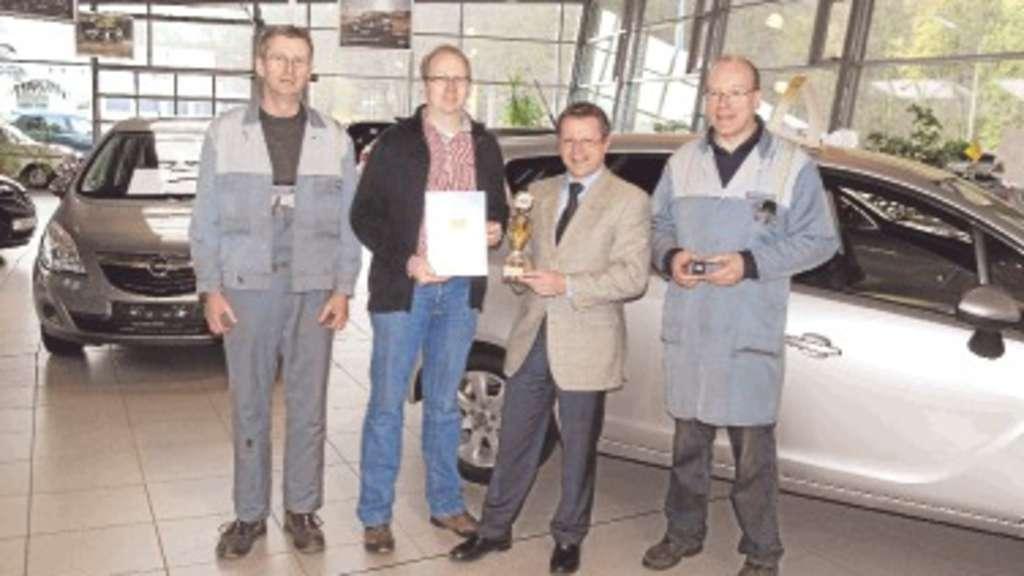 goldener opel service-pokal für das autohaus schmelter | lennestadt
