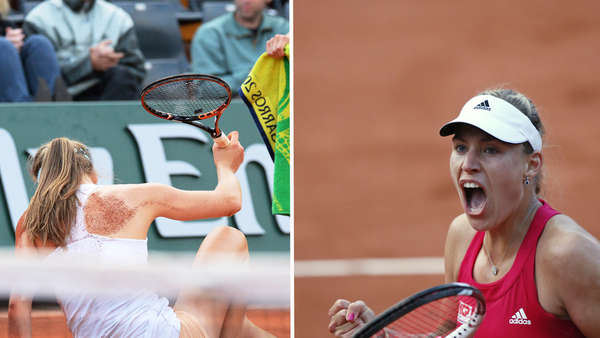 French Open: Barthel stürzt - Kerber jubelt