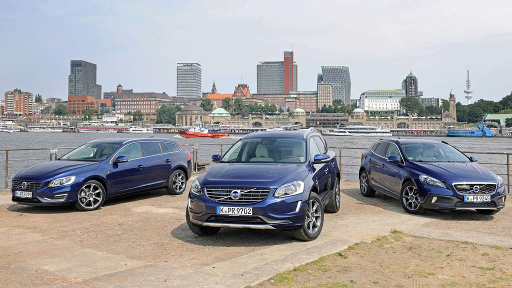 Volvo Ocean Race Edition: Volvo V60 (links), Volvo XC60 (Mitte) und Volvo V40 Cross Country (rechts).