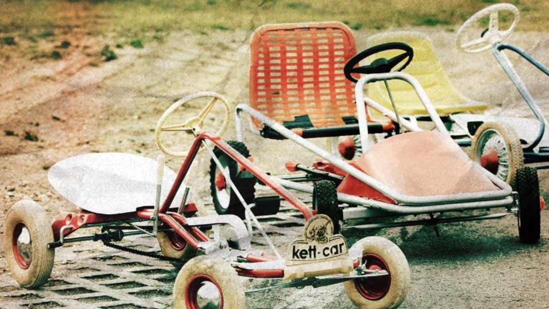 Das Bild zeigt Kettcars der Firma Kettler aus den 60er Jahren. Foto: Kettler/Archiv
