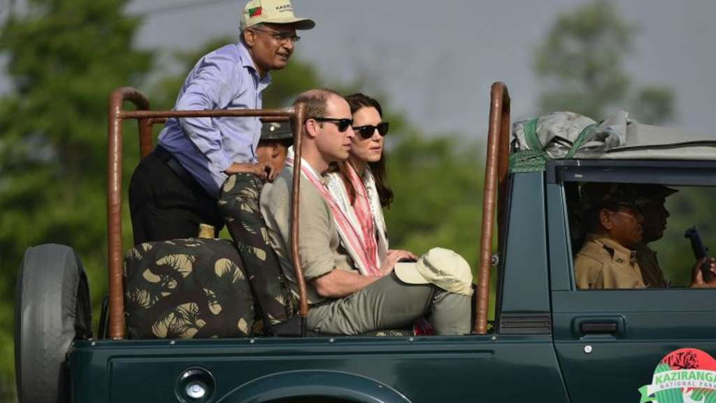 William und Kate im indischen Kaziranga-Nationalpark. Foto: Str
