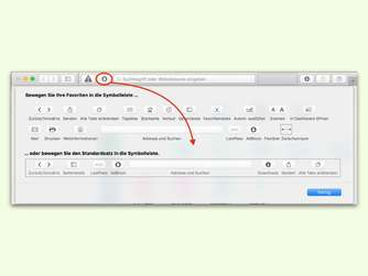 Add-Ons im Apple Browser: Symbole in Safari ausblenden