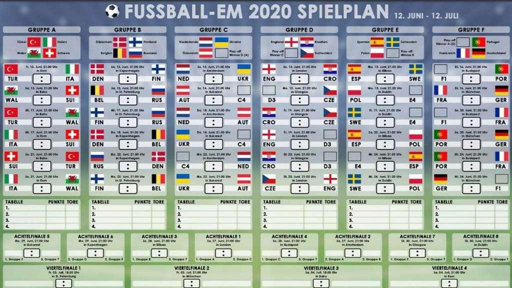 Em Gruppe Deutschland Spielplan