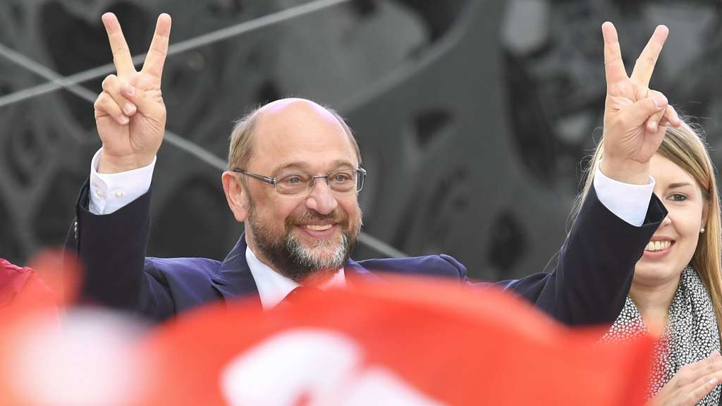 Martin Schulz am 16. September in Karlsruhe.