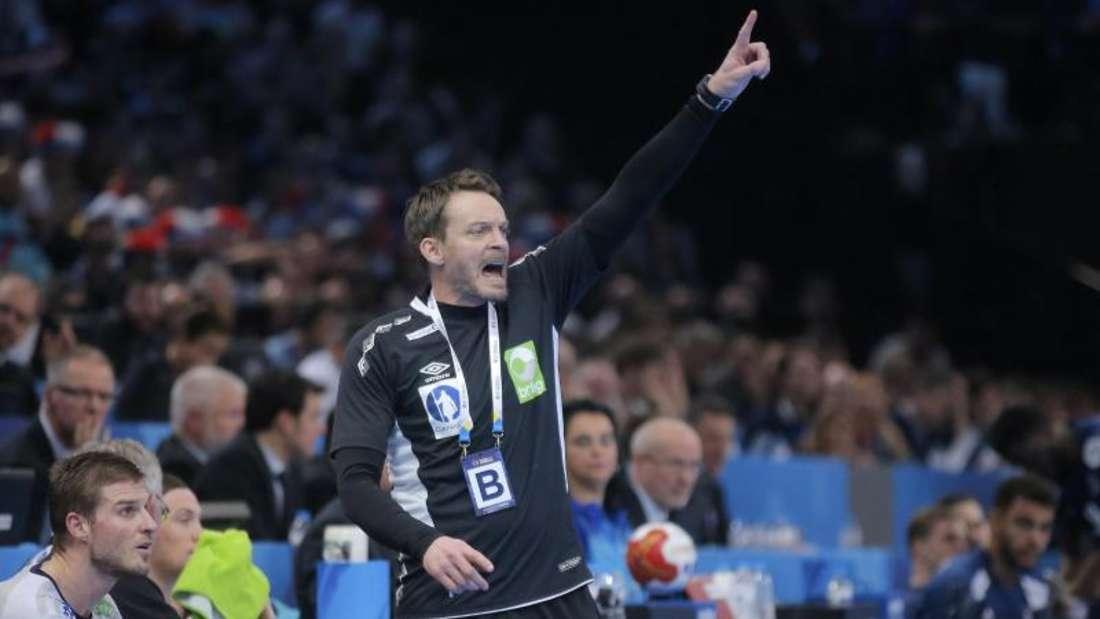 Trieb seine Mannschaft unentwegt an: Norwegens Trainer Christian Berge. Foto: Michel Euler