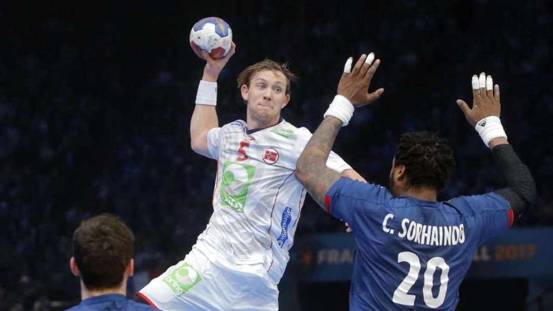 Norwegens Mittelmann Sander Sagosen versuchte das Spiel seines Teams zu leiten. Foto: Michel Euler