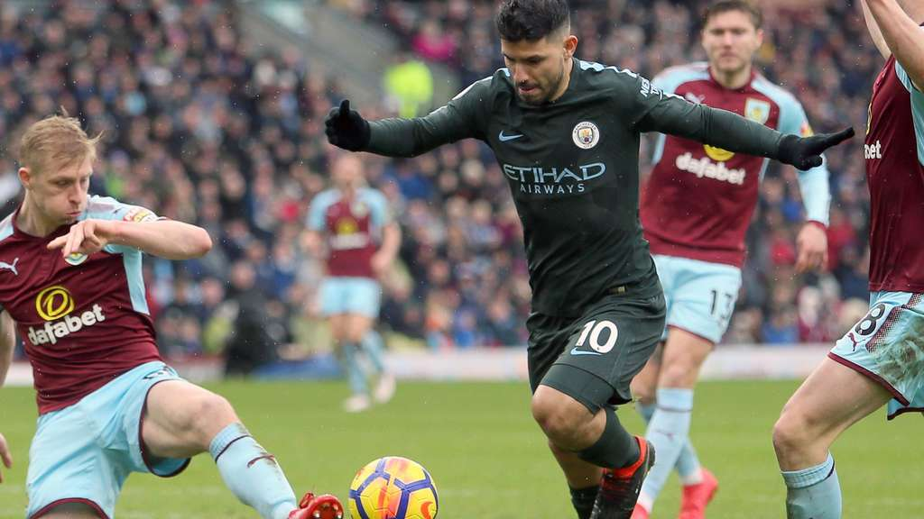Manchester City war am Samstag in Burnley zu Gast.