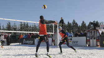 Erste Snow-Volleyball-DM in Winterberg