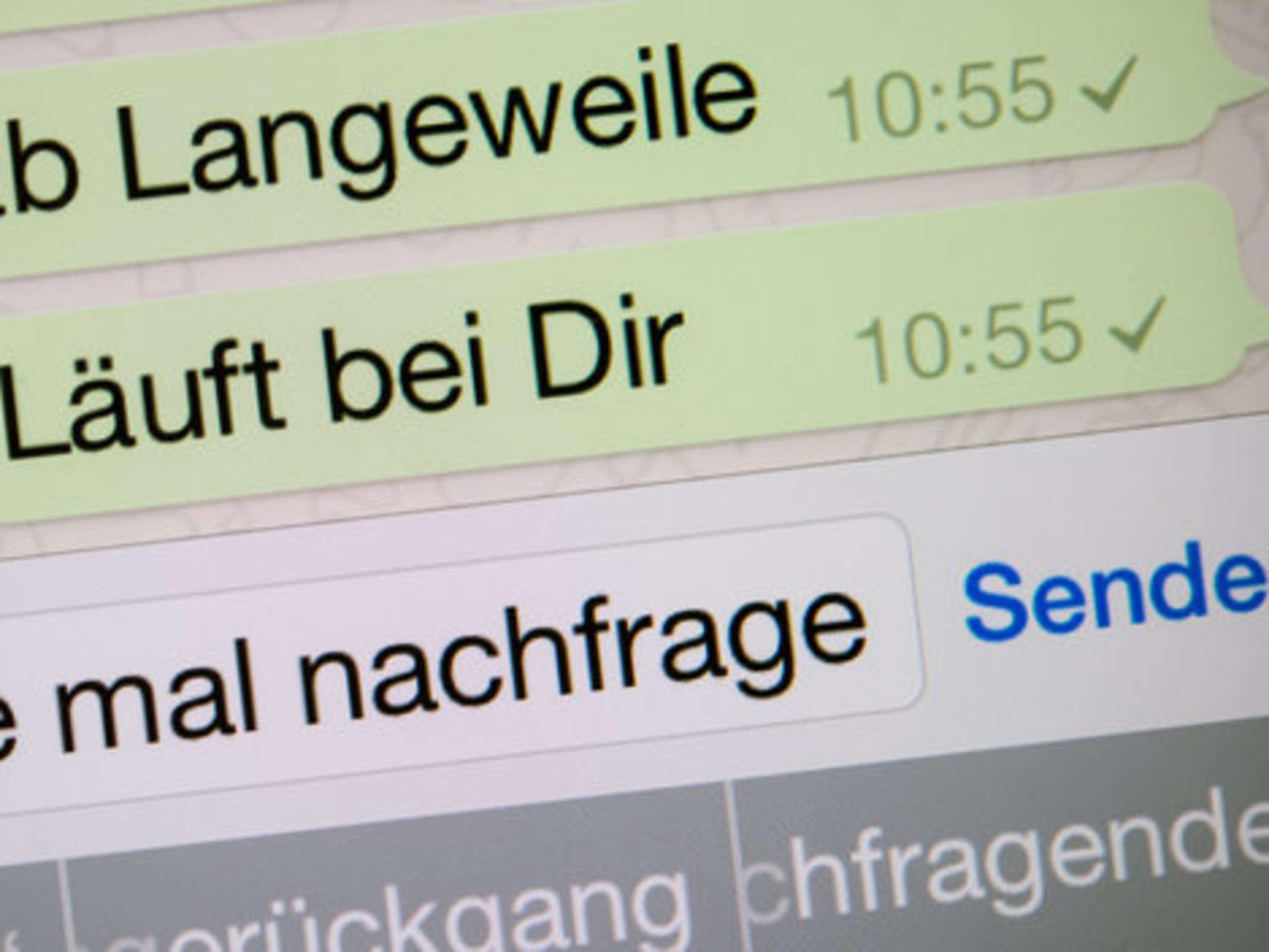 Aus whatsapp handy haken zwei trotz WhatsApp: Zwei
