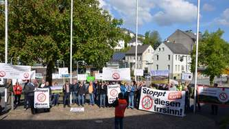 Windkraft-Protestaktion der Bürgerinitiative