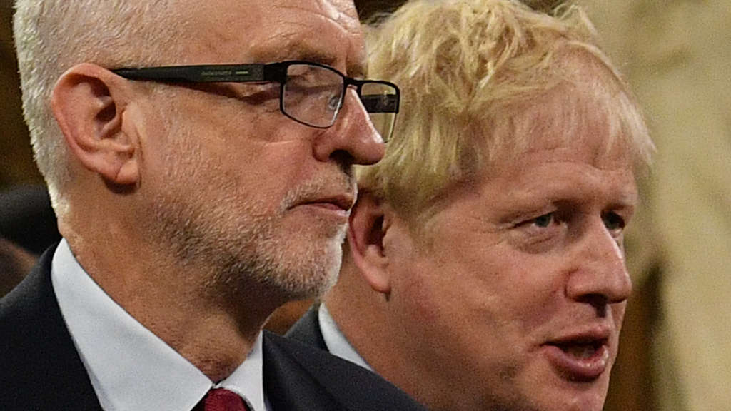 Labour-Parteichef Jeremy Corbyn und Boris Johnson.