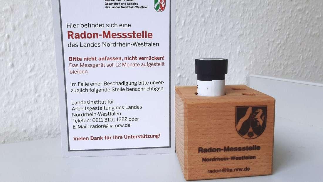 Radon Messdose Ministerium NRW