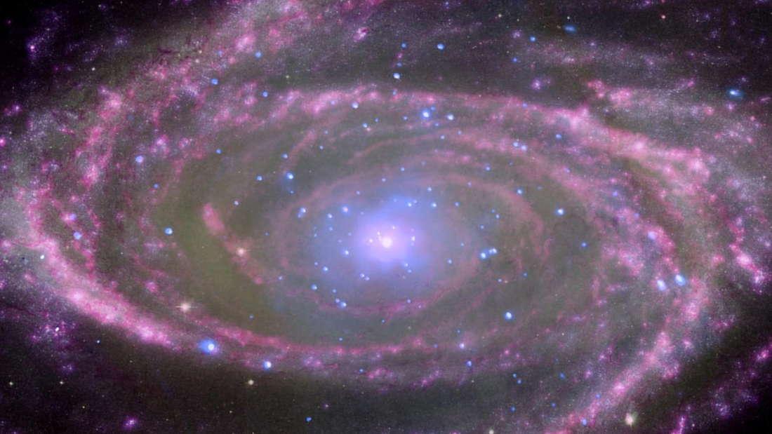 Schwarzes Loch in der Spiral Galaxie M81.