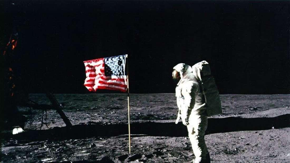 Buzz Aldrin auf dem Mond.