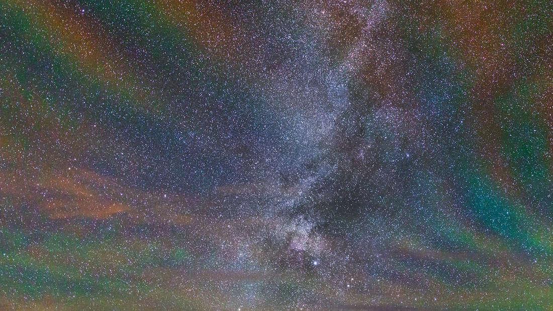Airglow über den Azoren.