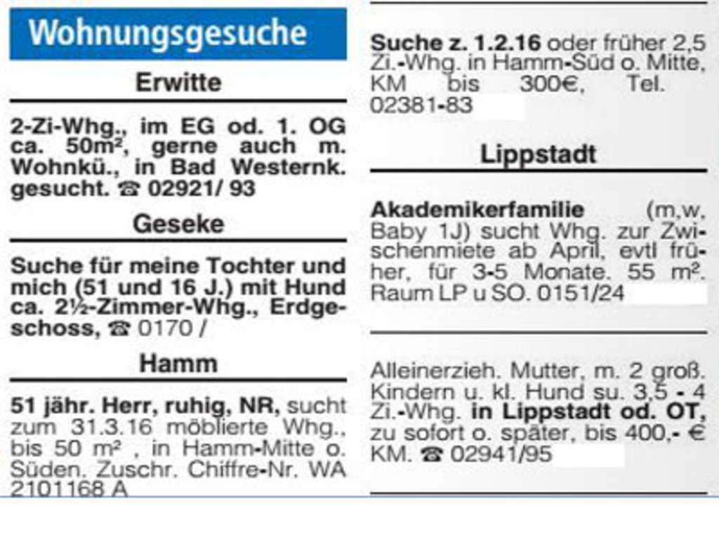 Köln Anzeige